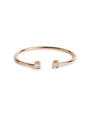 Jonc en or rose et diamants Le Cube Diamant GM DINH VAN