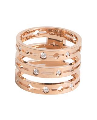 Bague en or rose et diamants Pulse 3 Rangs DINH VAN
