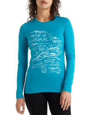 T-shirt à manches longues 200 Oasis LS Crewe Travel Diaries W ICE BREAKER