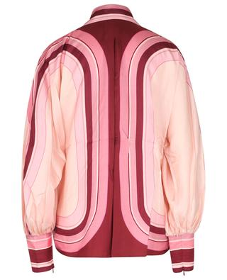 Concert Poet stripe adorned silk twill shirt ZIMMERMANN