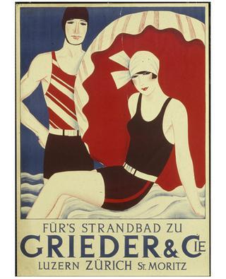 Affiche Für's Strandbad zu Grieder & Co BONGENIE GRIEDER