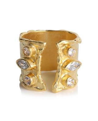 Goldener gebürsteter Ring mit Strass Murano DEAR CHARLOTTE