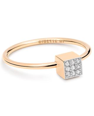 Ever rose gold and diamonds ring GINETTE NY