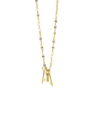 Brass necklace with keys TORY BURCH