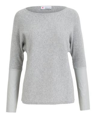 Pullover aus Wolle und Kaschmir mit Ledereinsätzen HERZEN'S ANGELEHEIT
