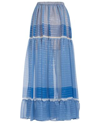 Elsa silk and lurex long skirt STELLA MCCARTNEY