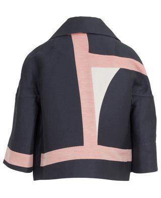Kurze Jacke aus Leinen und  Baumwolle AKRIS PUNTO