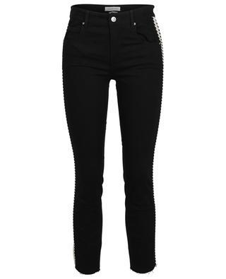 Cotton blend slim fit jeans with side stripe ISABEL MARANT