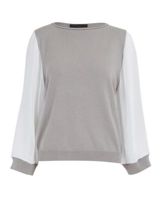 Cashmere jumper with fishnet sleeves FABIANA FILIPPI