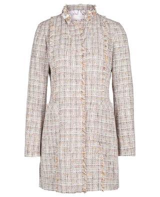 Alison long glittering check tweed blazer URSULA ONORATI