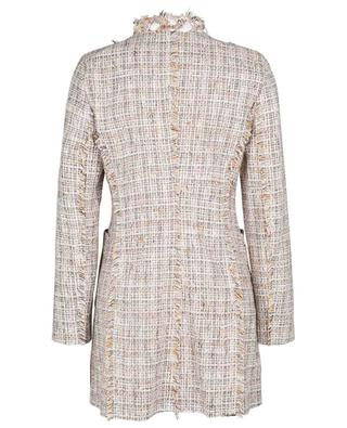 Alison long glittering check tweed blazer URSULA ONORATI