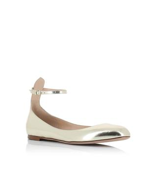 Metallic leather flats VALENTINO