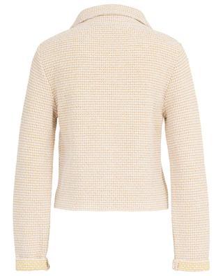 Short textured cotton jacket ANNECLAIRE