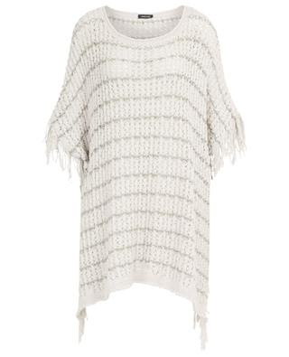 Fringed poncho ANNECLAIRE
