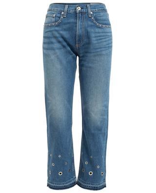 Hyfield studded high-rise cropped jeans RAG & BONE