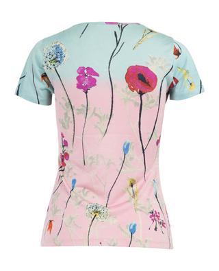 T-shirt en soie à imprimé fleuri PASHMA
