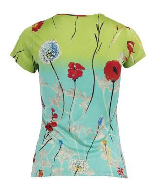 Floral print silk t-shirt PASHMA