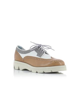 Tricolour leather derbies SANTONI