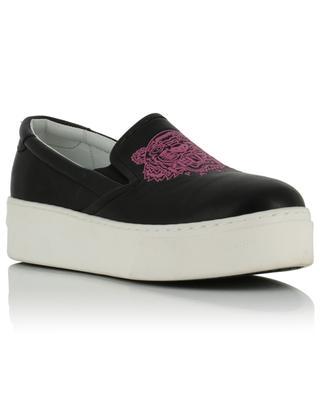 Tiger slip-on platform leather sneakers KENZO