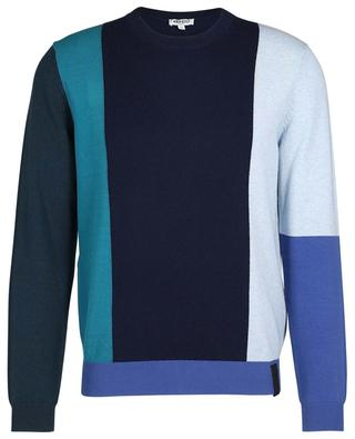 Color Bloc thin wool and cashmere jumper KENZO