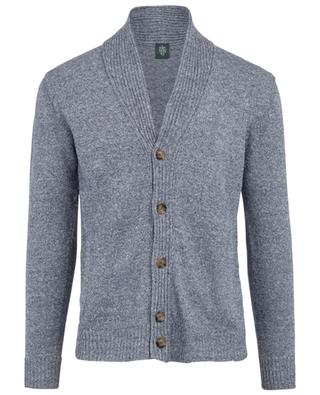 Linen and cotton blend cardigan ELEVENTY