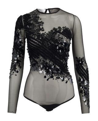 Bodysuit in mesh with sequins ELISABETTA FRANCHI