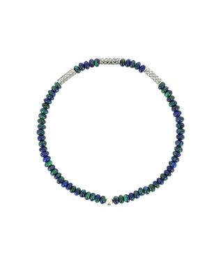 Azurite-malachite and silver beads bracelet MOMENTZ