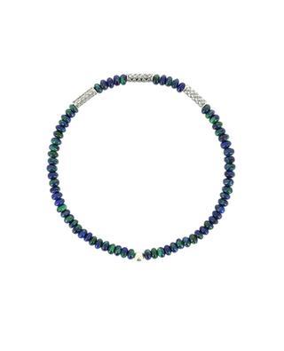 Bracelet en perles d'azurite-malachite et argent MOMENTZ