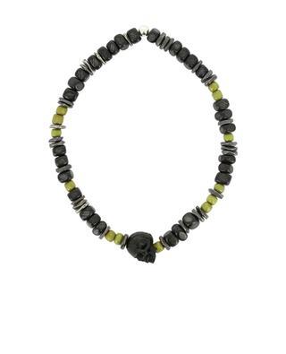 Bracelet en perles de corne, verre et argent MOMENTZ