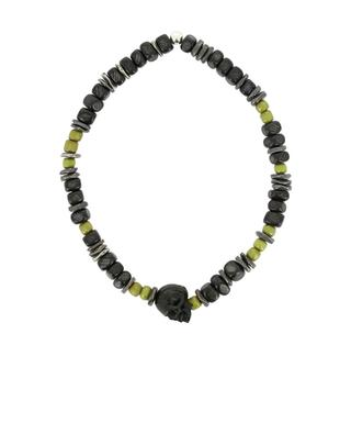 Horn, glass and silver beads bracelet MOMENTZ