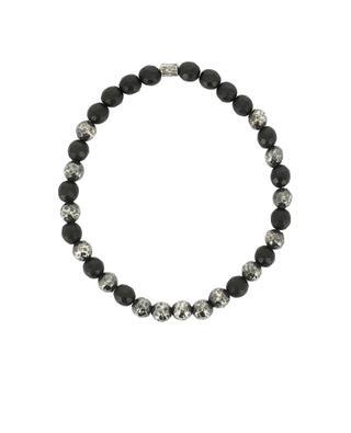 Bracelet en perles d'onyx et argent MOMENTZ
