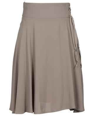 Flared viscose skirt with lacing ELISABETTA FRANCHI