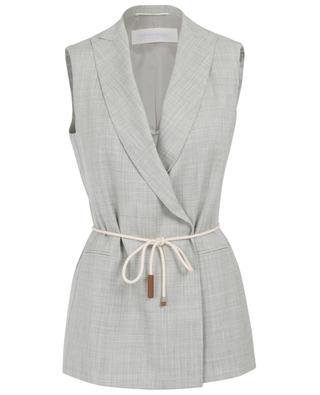 Veste sans manches en laine mérinos FABIANA FILIPPI