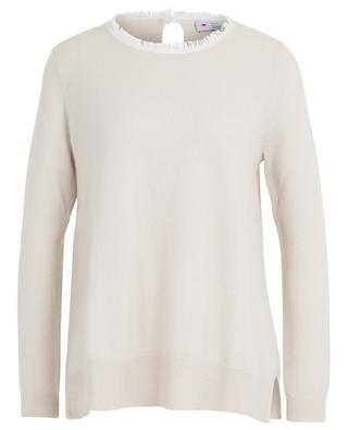 Distressed collar cashmere jumper HERZEN'S ANGELEHEIT