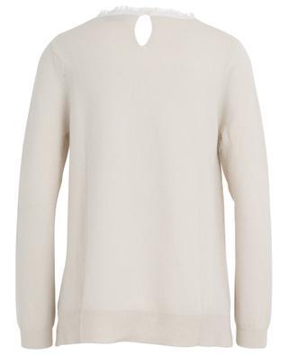 Distressed collar cashmere jumper HERZEN'S ANGELEHEIT