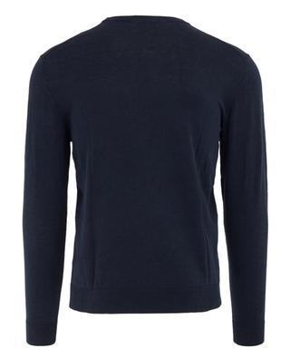 Linen and cotton round neck jumper ALTEA
