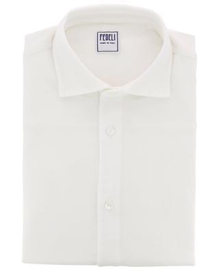 Steve piqué cotton shirt FEDELI