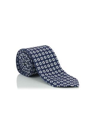 Cravate en lin et soie ALTEA