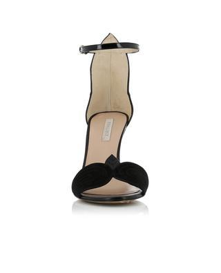 Sandales en daim, cuir verni et et cuir lisse PURA LOPEZ