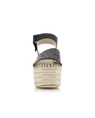 Sandales compensées en corde et cuir Gabrielle PALOMA BARCELO
