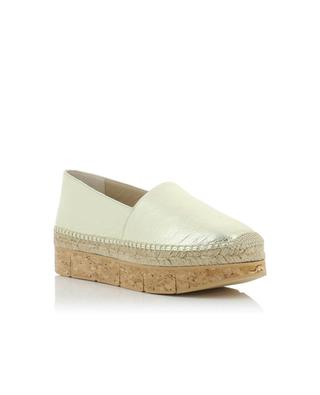 Limes metallic leather espadrilles PALOMA BARCELO