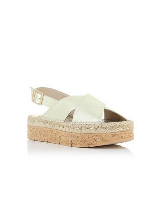 Sandales en cuir doré Lynde PALOMA BARCELO