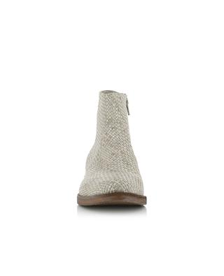 Woven leather ankle boots FRU.IT