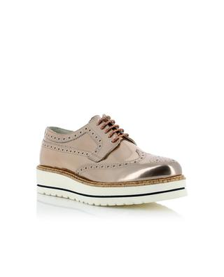 Metallic leather brogues TRIVER FLIGHT