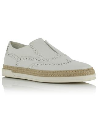 Leather derbies with perforations TRIVER FLIGHT
