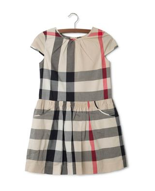 Check cotton voile dress BURBERRY