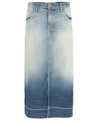 Jupe midi en jean The Slit CURRENT ELLIOTT