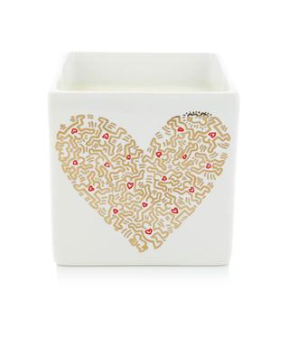 Bougie parfumée Gold Pattern Heart LIGNE BLANCHE