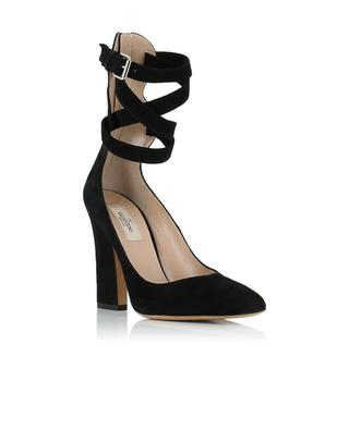 Suede pumps with ankle strap VALENTINO
