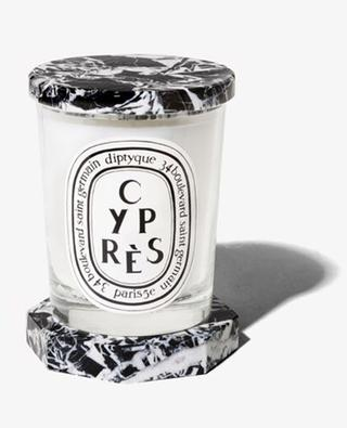 Black and white marble lid for scented candle 190 g DIPTYQUE